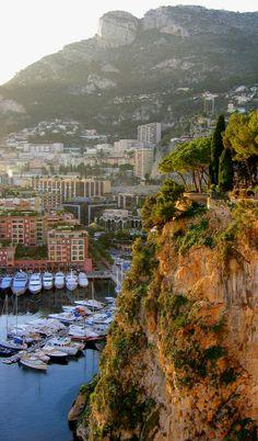 Monaco harbour below the cliff, Monaco (by Ludmilka on Flickr)
