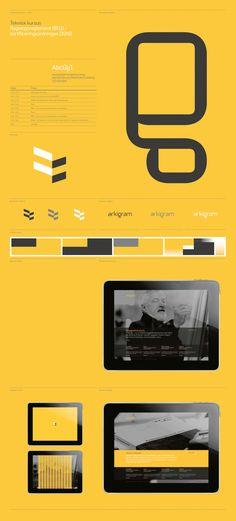 Arkigram - Brand Identity by Sebastian Gram, via Behance