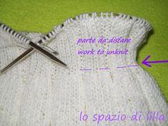 lo spazio di lilla: Come disfare un pezzo di lavoro a maglia fatto con i ferri circolari / How to undo a piece of knitting work with circula...