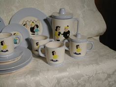 1950s Little Lulu Tea Set Vintage Playset