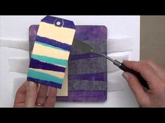 Easy, Fun Gelli Printing on Tags! - New blog post and video.  Full blog post including video can be found on the gelli arts blog!