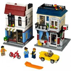 This three-in-one LEGO set builds three different neighborhood businesses: Auto Repair Shop, Flower Shop, and the Bike Shop & Cafe.
