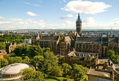 """University of #Glasgow's Main Building is the second largest """"Gothic Revival"""" building in Britain, built in the year of 1867,"""