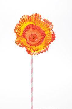 Cupcake Liner Flower Craft - Parenting.com
