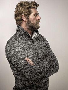 Sweater. Beard.