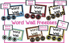 Classroom Freebies Too: Word Wall Sets!