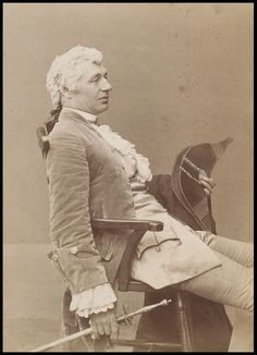 Charles Wyndham as David Garrick in David Garrick, Criterion Theatre, 1886. Guy Little Theatrical Photograph | Barraud, Herbert Rose | V Search the Collections