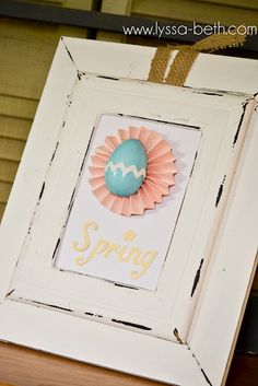 Spring Layered Frame for Easter/Spring