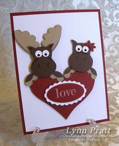 Stampin' Up Owl Punch  by Lynn Pratt at Stamp-n-Design: Lovie Birthday Mooses