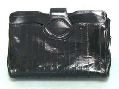 Vintage Black EEL Skin Purse