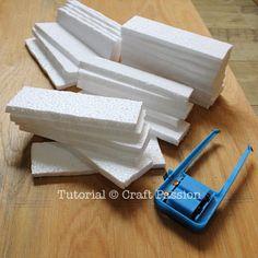 DIY Styrofoam Faux Brick Wall.