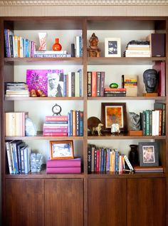 well-styled bookcase