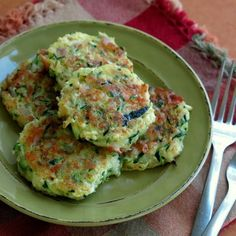 Zucchini Cakes with Feta and Red Onion - The Dinner-Mom