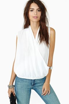 Sweet Wrap Top - Ivory
