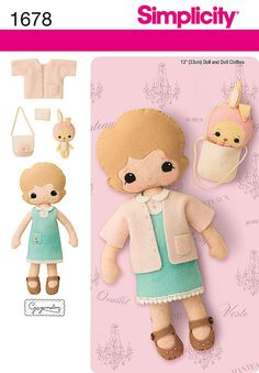 13 inch Felt Doll Clothes and Accessories Sewing by ucanmakethis, $3.95