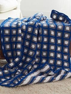 Ravelry: Fair and Square Afghan pattern by Caron Design Team