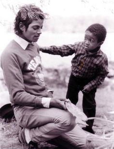 Michael Jackson and Emmanuel Lewis.