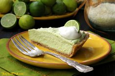 This no-bake key lime pie is so refreshing, creamy and perfect for summer! It's grain free and dairy free, too.