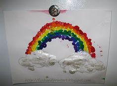 Finished preschool fingerprint art