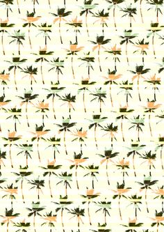 striped palms print pattern