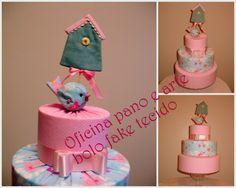 bolo de tecido - fabric cake