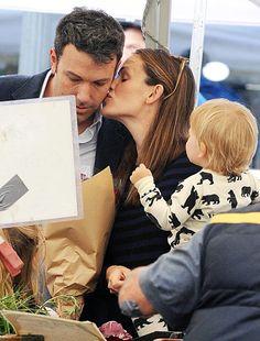 Even after three kids, Jennifer Garner still shows Ben Affleck some love during a trip to a local farmer's market!