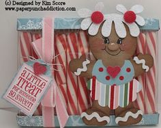ginger girl candy cane box tutorial designed by Kim Score