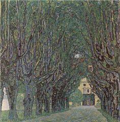 Avenue of Schloss Kammer Park - Gustav Klimt
