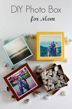 DIY Photo Box to Make for Mom #mothersday #giftidea #photobox