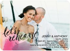 Calligraphy Corner - Signature White Rehearsal Dinner Invitations - Coloring Cricket - Fuchsia - Pink : Front