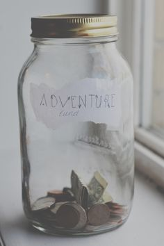 Adventure Fund...one way to save up for your next RV road trip. Go on an RV adventure. Take the people you care about. Make memories. Come home. Start a new adventure fund. Do it all again!     RV travel, RV adventure, RV road trip