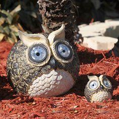 solar garden owls :)