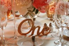 Gold, Script Written, Tables Numbers.  Germania Place Wedding. Kenny Kim Photography. Sweetchic Events.
