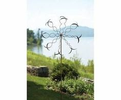 Oval Leaf Wind Spinner Kinetic Spinners WindSpinner Garden & Yard Sculpture