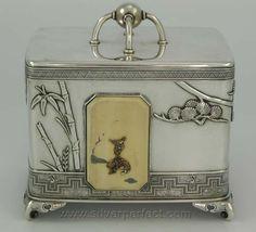 Antique Tiffany sterling tea caddy