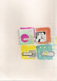 Scrapbook inspiration. Watercolor and stuff. Very cool. No artist's name listed.
