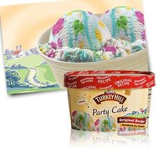 Turkey Hill Party Cake Ice Cream - 1 gram trans fat per 1/2 cup serving