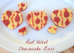 Red velvet cheesecake bars... yummy!