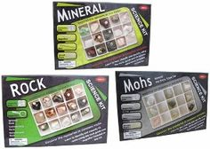 Rock, Mineral or Mohs kits. lots of other fun hobby supplies, science supplies, etc.. neat surplus site!