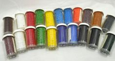 Lot of 21 Seed Bead VialsSize 11/0  Bulk Seed by Beadgarden55, $30.00