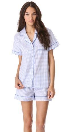 Gingham pajama set. Perfect!