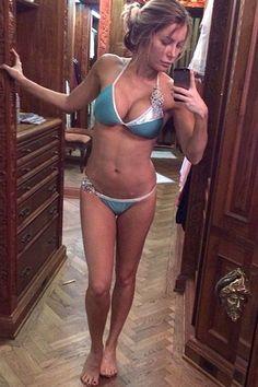 "Crystal Hefner snapped a makeup-free selfie that showcased her bikini body. Hugh Hefner's wife tweeted: ""Good morning #nomakeup #nofilter #imtired."""