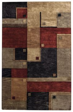 Tempo Rug in Red Multi #CapelRugs