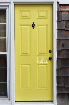 FREE SHIPPING  hello welcome front door vinyl
