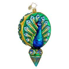 Christopher Radko Christmas Ornament - Proud as a Peacock