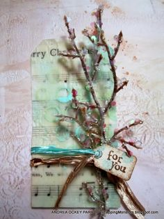 Christmas Tags with Wax and Dryer Sheets