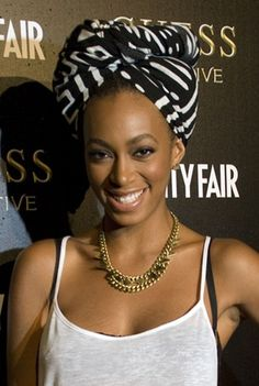 Solange Knowles turban hairstyle