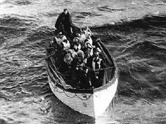 Survivors of the Titanic, photographed from the Carpathia.