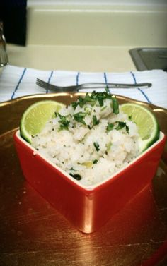 Rice cooker - copycat Chipotle lime cilantro rice