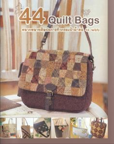 Fabric and Sewing - Many patchwork bag projects. patchwork bags